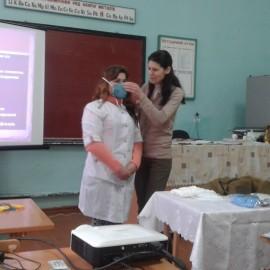 Вікрите заняття з  предмета Захист Вітчизни (дівчата)