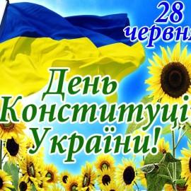 Вітаю з Днем Конституції  України!