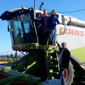 Навчальна екскурсія на  тракторну бригаду