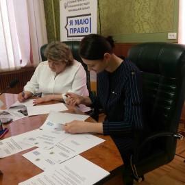 Меморандум про співпрацю у захисті прав громадян підписала Буковинська юстиція з  юридичною клінікою  Кіцманського коледжу ПДАТУ