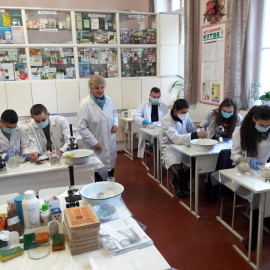 Лабораторне заняття в коледжі  з спеціальності 211 «Ветеринарна медицина»